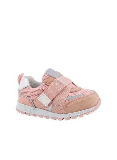 Kids A More Jasper Tek Cırtlı Lastikli Deri Ve Air File Detaylı Kız Çocuk Sneaker Pembe Pembe